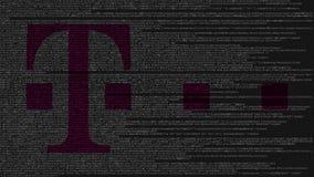 T-Mobile logo robić źródło kod na ekranie komputerowym Redakcyjny 3D rendering ilustracji