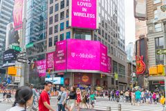 T-Mobile Retail Wireless Store. New York, United States, August 18, 2018:T-Mobile Retail Wireless Store. T-Mobile is a Wireless Provider Offering Cell Phones stock photo