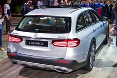 T-modello per qualsiasi terreno di Mercedes-Benz E 220 d 4matic Immagine Stock Libera da Diritti