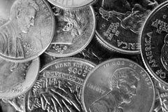 tła monety stos Obraz Stock