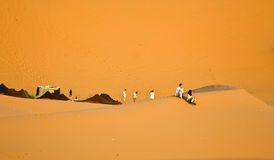 tła moroccan pustynny wydmowy Zdjęcia Stock