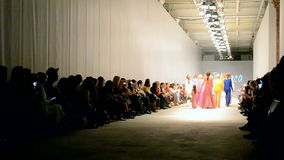 T.Mosca presentation, Ukrainian Fashion Week 2015,Kiev, Ukraine,. KIEV - OCT 16: T.Mosca presentation during Ukrainian Fashion Week 2015 on October 16, 2015 in stock video