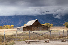 T.A. Moulton Barn. The T.A. Moulton Barn on Mormon Row Royalty Free Stock Images