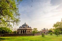 T?mulo de Isa Khan em Deli, ?ndia fotos de stock
