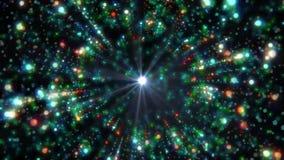 T?nel abstracto de la energ?a en espacio almacen de video
