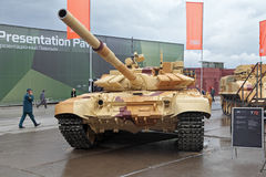 T-72. NIZHNY TAGIL, RUSSIA - SEP 26, 2013: The international exhibition of armament, military equipment and ammunition RUSSIA ARMS EXPO (RAE-2013). The T-72 is a Stock Photos