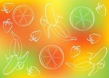 tło abstrakcjonistyczna owoc Obraz Royalty Free