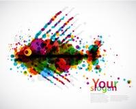 tło abstrakcjonistyczna ryba Fotografia Stock