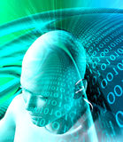 tło abstrakcjonistyczna technologie informacyjne Obrazy Stock