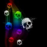 tło abstrakcjonistyczne czaszki Fotografia Stock