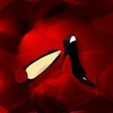 tło abstrakcjonistyczni buty Obrazy Royalty Free