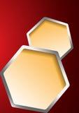 tło abstrakcjonistyczni hexagones Obraz Royalty Free