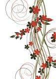 tło abstrakcjonistyczni kwiaty ilustracja wektor