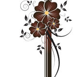 tło abstrakcjonistyczni kwiaty Zdjęcie Royalty Free