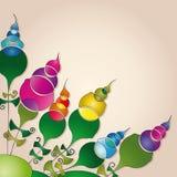tło abstrakcjonistyczni kwiaty Obrazy Royalty Free