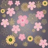 tło abstrakcjonistyczni kwiaty Obraz Royalty Free