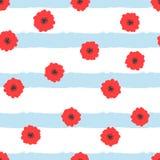 tło abstrakcjonistyczni kwiaty paskowali bezszwowy kwiecisty wzoru Obraz Royalty Free