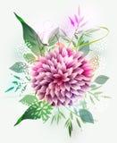 tło abstrakcjonistyczny kwiat Obraz Royalty Free