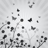 tło abstrakcjonistyczny kwiat Zdjęcie Stock