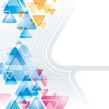 tło abstrakcjonistyczny trójbok Obrazy Stock