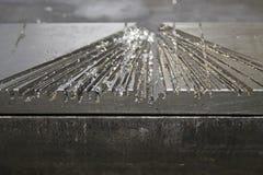 tło abstrakcyjne metaliczny Obrazy Stock