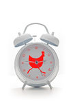 tło alarmowy zegara pojedynczy white Obrazy Stock