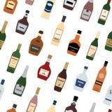 Tło alkohol butelki Zdjęcia Stock