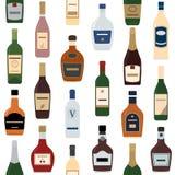 Tło alkohol butelki Obrazy Royalty Free