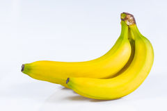 tło banany biali Obrazy Stock