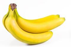 tło banany biali Zdjęcia Stock