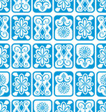 tło bezszwowy wektora niebieskie kafli Fotografia Stock