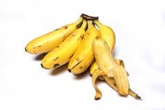 tło biel bananowy karmowy jarski Zdjęcie Stock