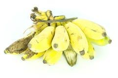 tło biel bananowy karmowy jarski Zdjęcia Stock