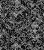 tło biel czarny dekoracyjny Zdjęcia Stock