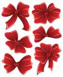 tło biel czerwony tasiemkowy ustalony Fotografia Stock