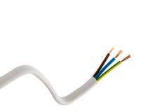 tło biel kablowy elektryczny Zdjęcie Royalty Free