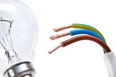 tło biel kablowy elektryczny Obraz Stock