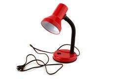 tło biel lampowy czytelniczy czerwony Obrazy Stock