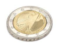 tło biel menniczy euro Fotografia Royalty Free