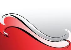 tło biel popielaty czerwony Obrazy Stock