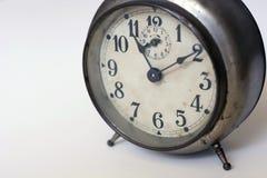 tło biel zegarowy stary Fotografia Stock