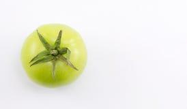 tło biel zielony pomidorowy Obrazy Royalty Free