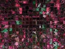 tło blokowych cyfrowy wysoki wzrost budynków Zdjęcia Royalty Free