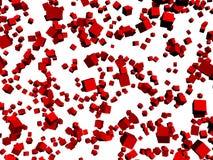 tło boksuje czerwonego biel Fotografia Stock