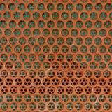 Tło brown stalowy metal Fotografia Stock