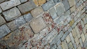 t?o bruk granitowy Kamienna bruk tekstura zdjęcia royalty free