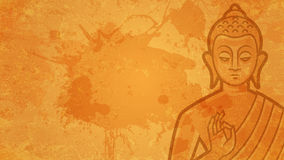 Tło Buddha medytuje Obrazy Royalty Free