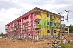 Tło buduje kolorowy contruction. Fotografia Stock