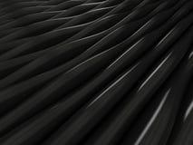 Tło czarne 3d abstrakta fala Fotografia Royalty Free