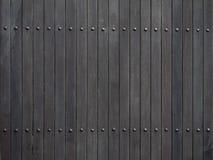 Tło czarne drewniane deski Zdjęcie Stock